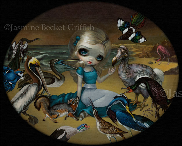 Fairy in my Window big eye fantasy art ebsq Jasmine Becket-Griffith CANVAS PRINT